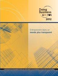 Entreprendre dans un monde plus transparent - Doing Business