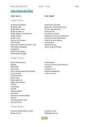 Liste / Lijst A & B 2012 - KKUSH