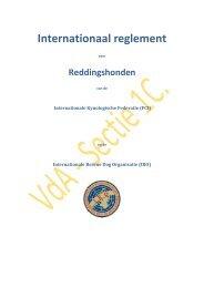 Int. Regl. Reddingshonden F.C.I. & I.R.O. - KKUSH