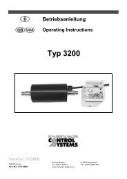 Typ 3200 - Control Systems