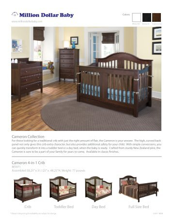 cameron collection cameron 4in1 crib million dollar baby hk