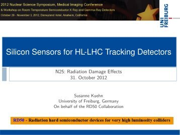 Silicon Sensors for HLLHC Tracking Detectors - RD50 - CERN