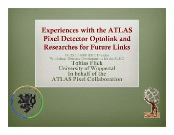Experiences with the ATLAS Pixel Detector Optolink ... - CERN RD50