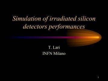 Simulation of irradiated silicon detectors performances - CERN RD50