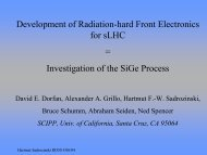 Development of Radiation-hard Front Electronics for sLHC ... - SCIPP