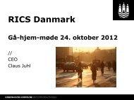 RICS Danmark Gå-hjem-møde 24. oktober 2012