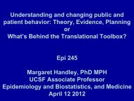 Understanding and changing public and patient behavior: Theory ...