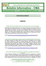 Informativo na íntegra - Ministério Público de Santa Catarina