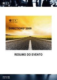 Consulte aqui os resultados deste evento - IDC Portugal