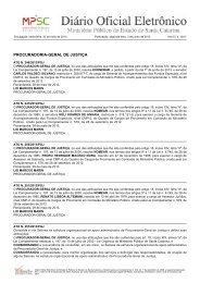 procuradoria-geral de justiça - Ministério Público de Santa Catarina