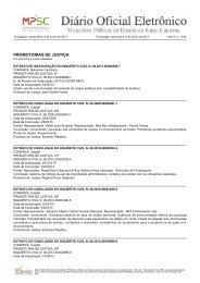 PROMOTORIAS DE JUSTIÇA - Ministério Público de Santa Catarina