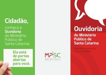 Ouvidoria - Ministério Público de Santa Catarina