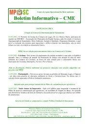 Boletim Informativo – CME - Ministério Público de Santa Catarina