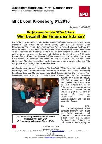 Blick vom Kronsberg 01/2010 - SPD-Ortsverein Kirchrode ...