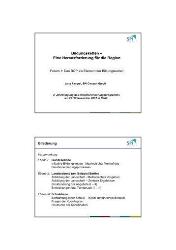 BOP Jahrestagung Forum 1 Pampel - Berufsorientierungsprogramm