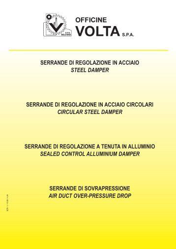 serrande di regolazione in acciaio steel damper ... - Officine Volta SpA