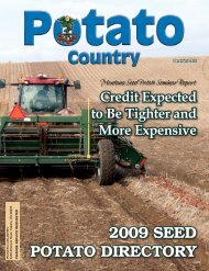 2009 Seed potato directory - Columbia Publishing & Design