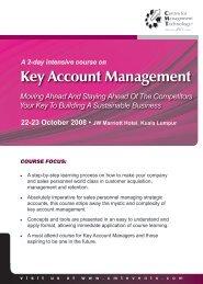 Key Account Management - CMT Conferences