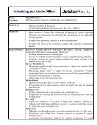 Scheduling and Admin Officer