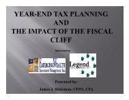 Download Webcast Slides - Legend Financial Advisors, Inc.