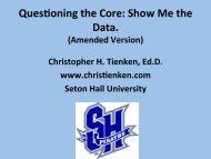 Chris Tienken Presentation Slides Amended 2013-11-14