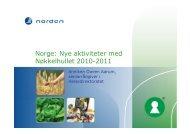 Norge: Nye aktiviteter med Nøkkelhullet 2010-2011