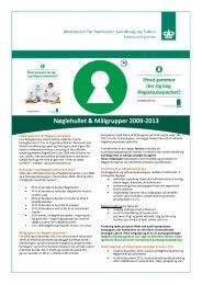 Faktaark om Nøglehullet og målgrupper 2009-2013 - noeglehullet.dk
