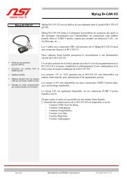 Fiche technique Mplug BI CAN I/O - NSI