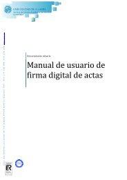 Manual usuario de firma digital de actas normalizado - Campus Virtual