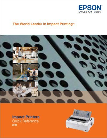 Quick Reference Impact Printers