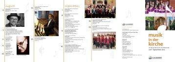 musik kirche - Ev.-luth. Kirchengemeinde Jever
