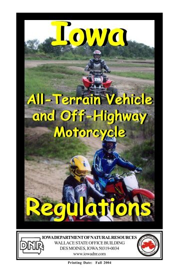 Fall 2004 ATV Regs - Iowa County