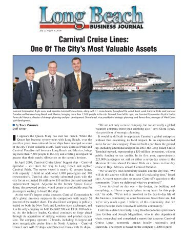 Carnival Cruise Lines - Long Beach Business Journal