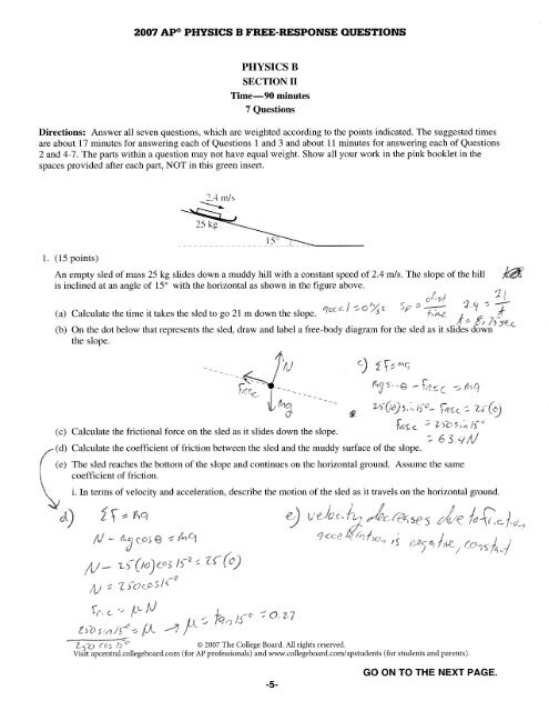 Net Force Ap Worksheet Answers