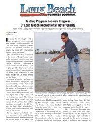 Testing Program Records Progress Of Long Beach Recreational ...