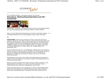 Seite 1 von 2 Alb Bote - (2007-12-12 00:00:00) - Riverdance ...