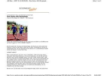 Seite 1 von 3 Alb Bote - (2007-06-26 00:00:00) - Eine kleine Alb ...