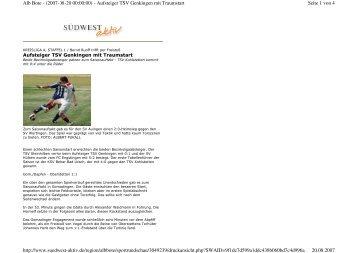 Seite 1 von 4 Alb Bote - (2007-08-20 00:00:00) - Aufsteiger TSV ...