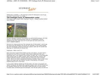 Seite 1 von 4 Alb Bote - (2007-05-14 00:00:00) - TSV Undingen ...