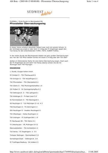 Seite 1 von 4 Alb Bote - (2005-08-15 00:00:00) - Pfronstetter ...