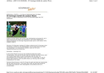 Seite 1 von 4 Alb Bote - (2007-10-01 00:00:00) - SV Zainingen ...