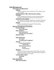 Data Management Review Checklist