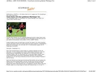 Seite 1 von 4 Alb Bote - (2007-09-03 00:00:00) - Yasin Eyisu mit ...