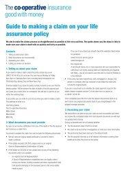 Life assurance claim guide (PDF - 0.1Mb) - Royal London