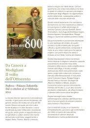 Da Canova a Modigliani. Il volto dell'800 - Circolo Cultura e Stampa ...