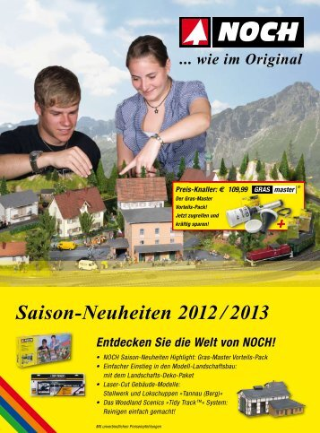 Noch Flyer Saisonneuheiten 2012 - Modellbahnshop Sebnitz