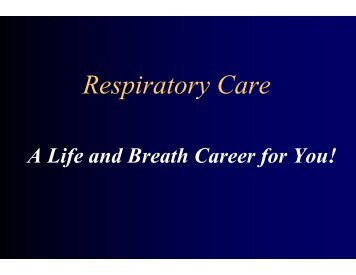 Respiratory Care - Darton College