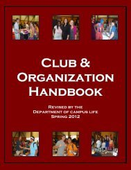 Organizational Handbook - Darton College