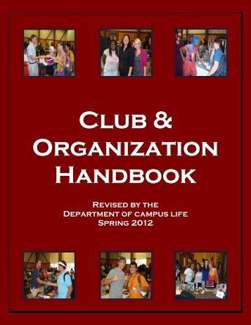 Organizational Handbook - Darton College
