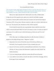 MLA Intext citations - Darton College